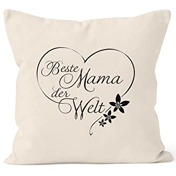 Moonworks Kissenbezug Beste Mama Der Welt Geschenk Für Mutter