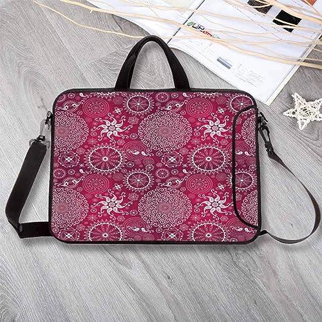 Amazon com: Purple Mandala Portable Neoprene Laptop Bag