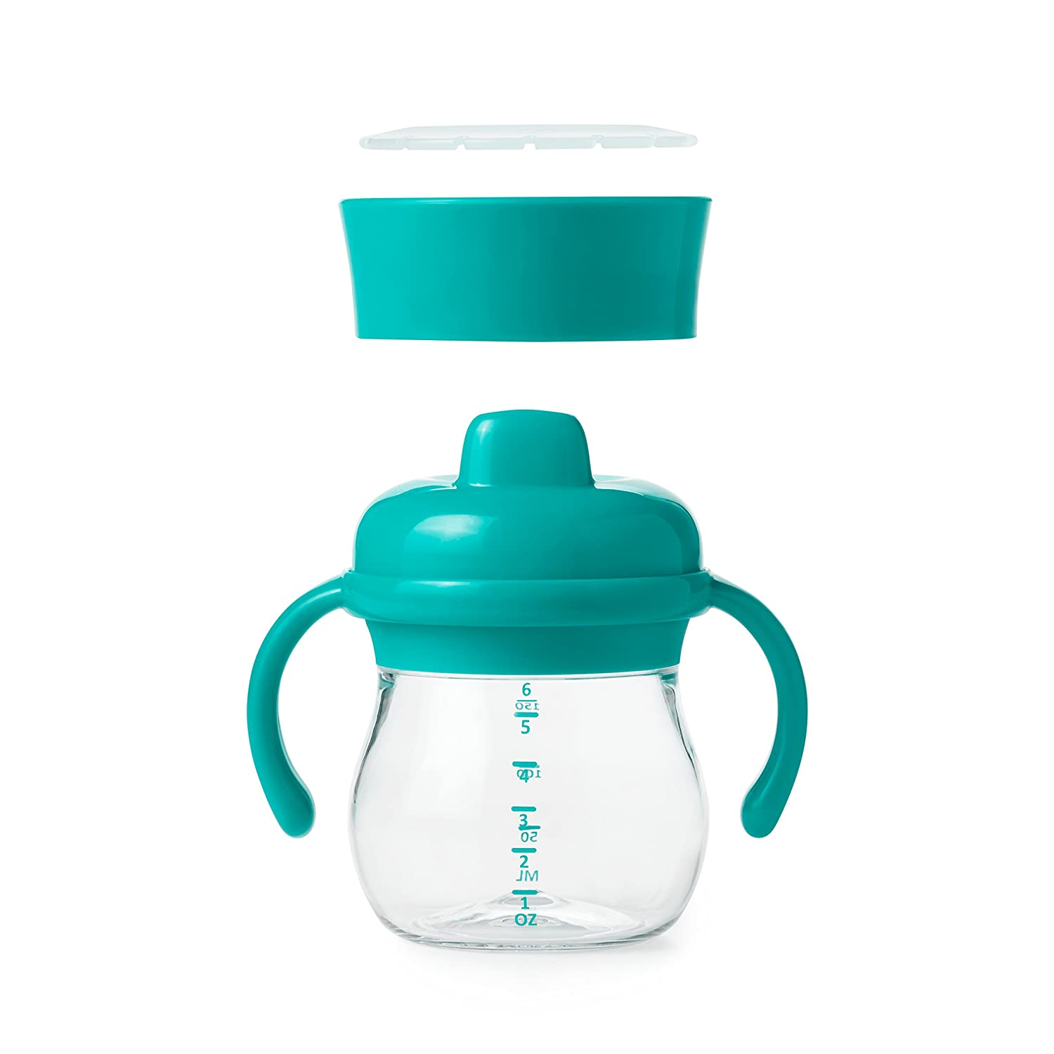 OXO Tot Transitions Sippy Cup Set Teal 6 Ounce