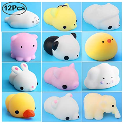 Amazon Com Outee Mochi Animal Squishies Toys Xmas Gift 12 Pcs Soft