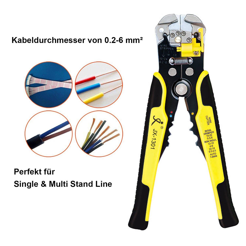 Automatische Abisolierzange Aderendhülsen Zange Kfz Werkzeug 0,5-2,2mm