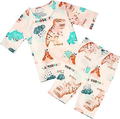 Yilaku Conjunto de Ropa,Bebe Niña niño Algodón orgánico de bambú Pijama de Manga Suelta de 7 Puntos Ropa de Dormir: Amazon.es: Ropa y accesorios