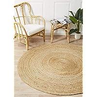 Round Jute Natural Floor Rug Covering Large Carpet Flooring Rugs 150x150cm