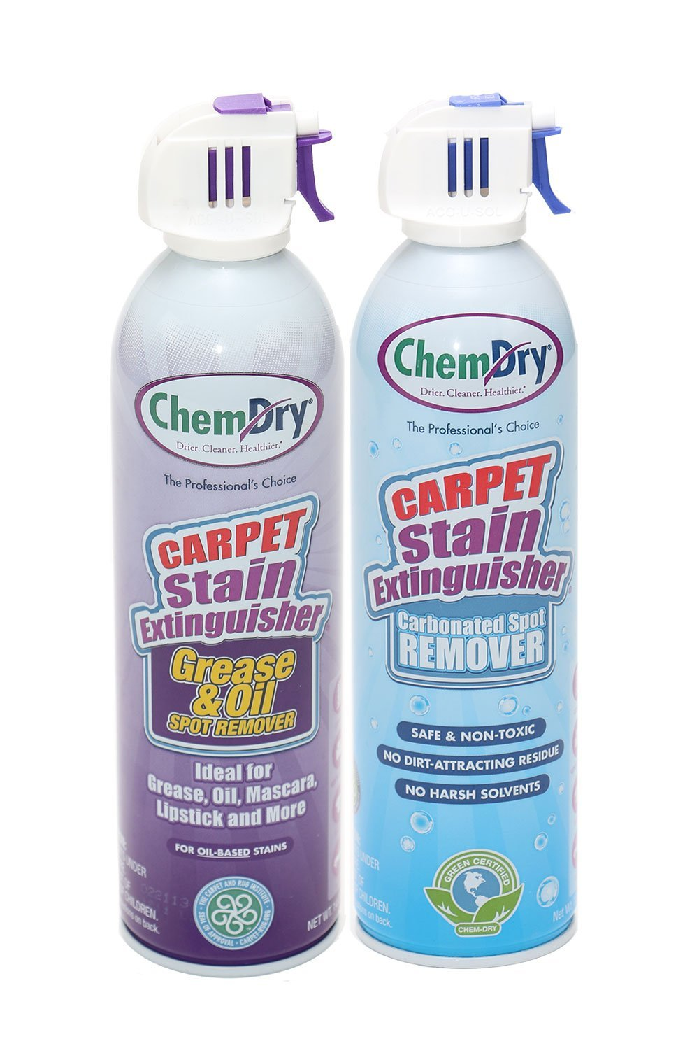 Chem-Dry's Carpet Stain Extinguisher Spot Remover + Grease & Oil Stain Extinguisher 2-Pack