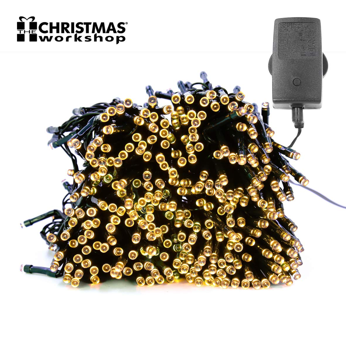 76230 Christmas Workshop Benross 600 LED Chaser String Lights Warm White, Multi Function Flashing Fairy Light, 8 Modes, Indoor & Outdoor - Garden Party Wedding Benross Group