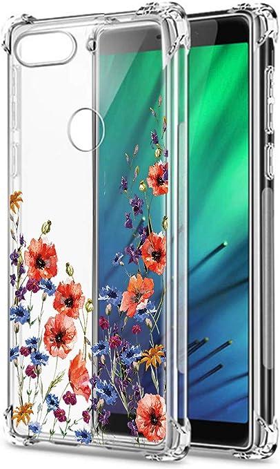Oihxse Cristal Compatible con Huawei Y5 2019/Honor 8S Funda Transparente TPU Silicona Estuche Airbag Esquinas Anti-Choque Anti Rasguños Diseño Rosa Flower Caso (Flores A7): Amazon.es: Electrónica