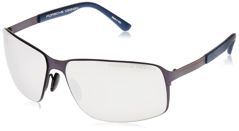 [ポルシェデザイン]PORSCHE DESIGN メガネ メンズ B00OSW8DDW 日本 63 (FREE サイズ)|ブルー ブルー 日本 63 (FREE サイズ)