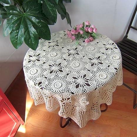 tidetex rústico tridimensional Pastoral flores mantel mano croceht Floral toalla de gamuza de mesa mesa de café (decorationtable superposición cuadrado ...
