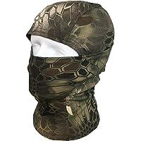 QMFIVE Tactical Airsoft al Aire Libre Ninja Hood Kryptek Camuflaje Flexible Máscara Protectora de Cara Completa