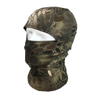 Pasamontañas Máscara QMFIVE Camuflage Cara Completa Militar ...