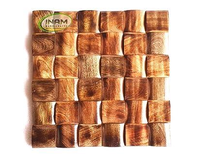 Amazon Com Inam Wooden Decorative Wall Tiles Handicrafts Premium