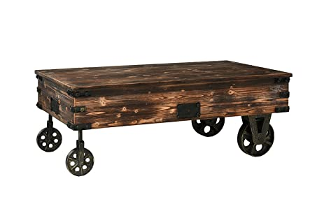Classic Coaster Country Style Wooden Coffee Table (Brown)