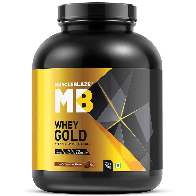 MuscleBlaze Whey Gold 44 lb Mocha Cappucino