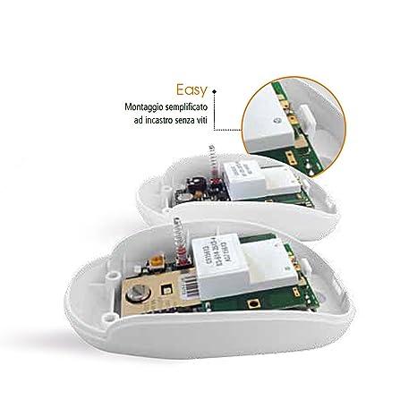 detector volumétrico instalación con tecnología de movimiento pir de ratón 07 amc doble alarma: Amazon.es: Electrónica