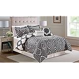 6 Piece Full Capetown Gray Reversible Comforter Set