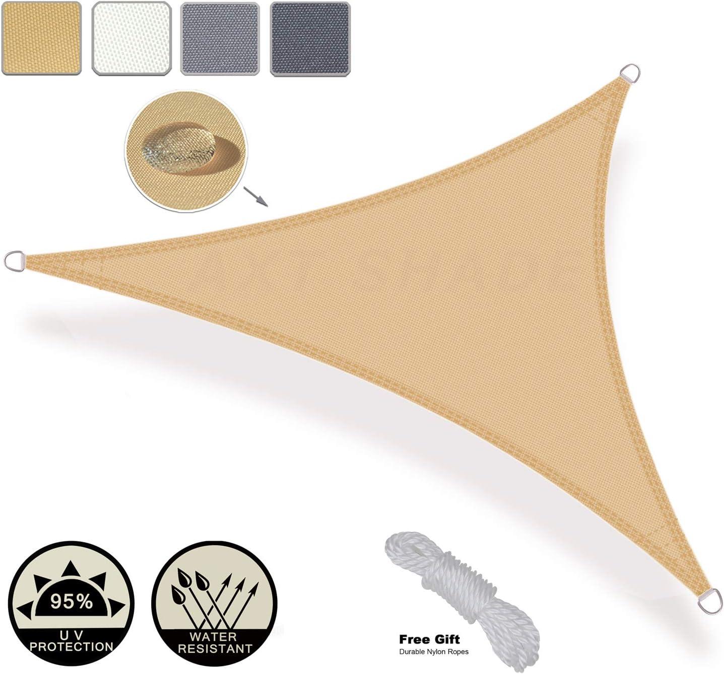 Colore Crema AXT SHADE Tenda a Vela Impermeabile Rettangolare 2 x 3m Cortile per Esterni Parasole e Protezione Raggi UV Giardino