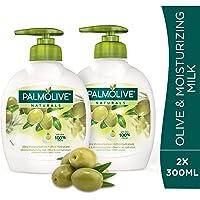 Palmolive Liquid Hand Soap Pump Olive & Milk Liquid Hand Wash, 300 ml - Pack of 2