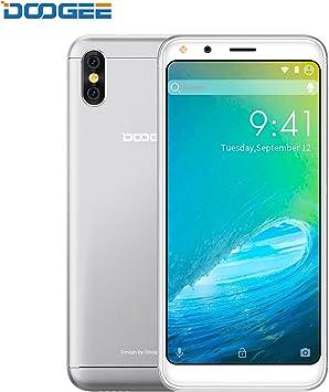 "Moviles Libres, DOOGEE X53 3G Android 7.0 Smartphone Libre, 5.3"" FHD IPS, MT6750T Octa-Core, 1GB RAM + 16GB ROM, 5.0MP Cámara, Batería de 2200mAh, Dual SIM (Plata): Amazon.es: Electrónica"