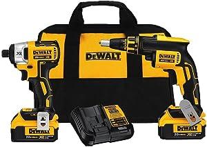 DEWALT 20V MAX XR Cordless Screwgun Combo Kit, 4.0-Ah, 2-Tool (DCK262M2)