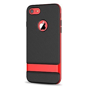 carcasa funda roja doble iphone 8