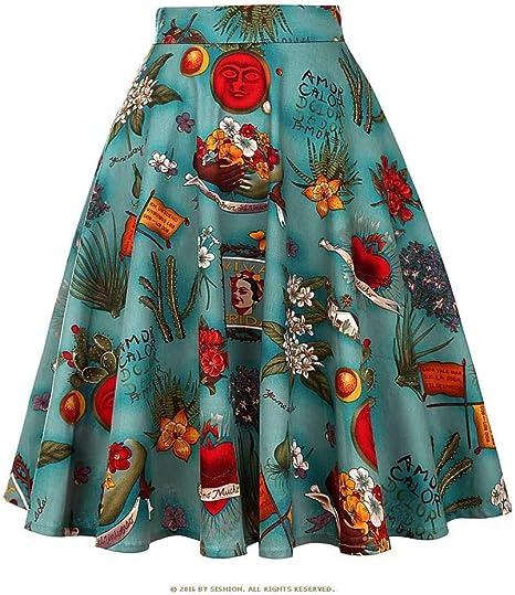 HEHEAB Falda,Algodón Azul Faldas Largas Faldas Femeninas Rojo ...