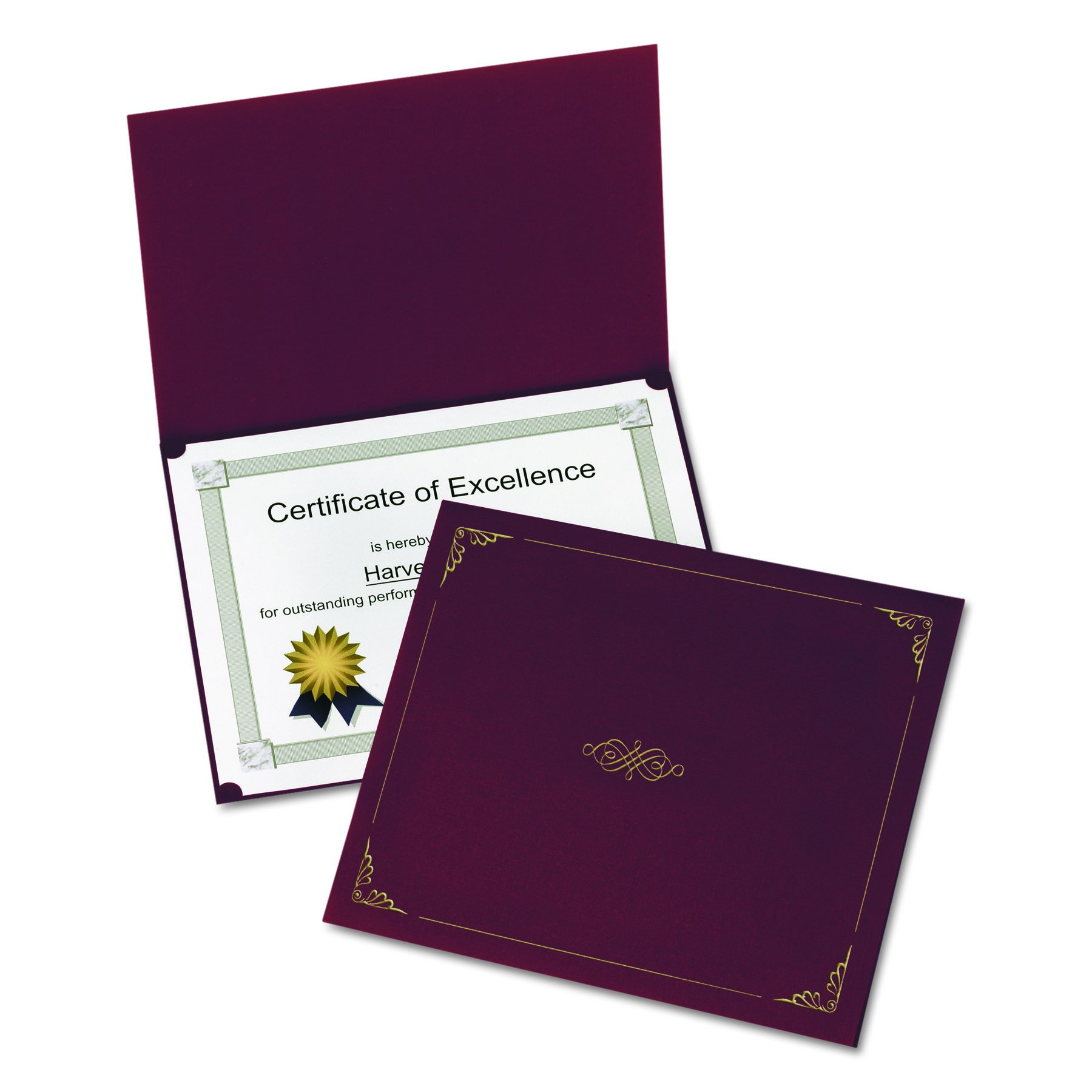 Oxford Certificate Holders, Letter Size, Burgundy, 5 per Pack5 (29900585BGD)