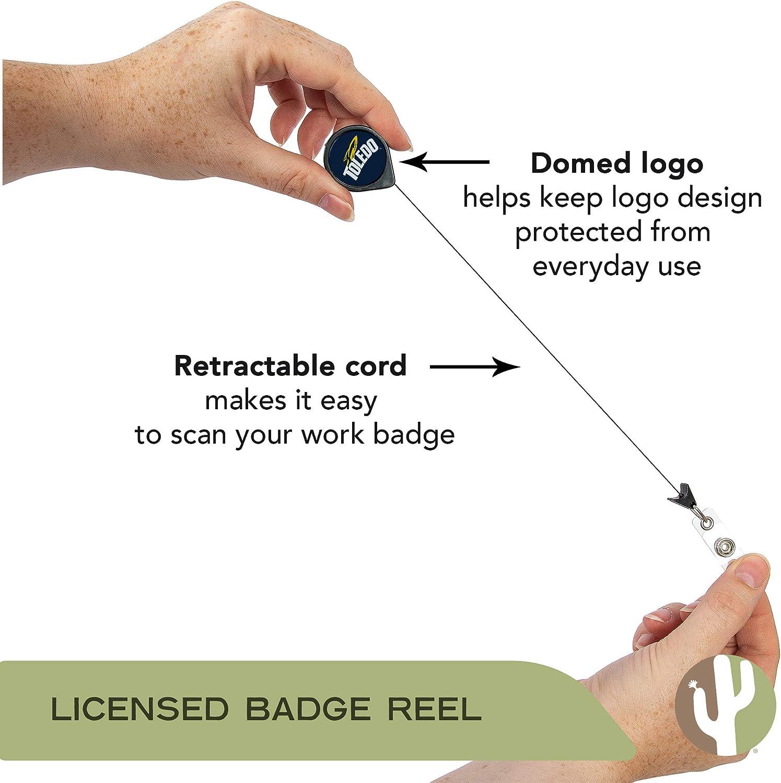 University of Toledo UT Rockets NCAA Retractable Badge Holder Ticket Clip Reel ID