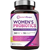 Doctor's Recipes Women's Probiotic, 60 Caps 50 Billion CFU 16 Strains, with Organic Prebiotics Cranberry, Digestive…