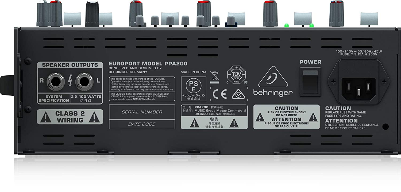 BEHRINGER PA System PPA200 Dark Grey