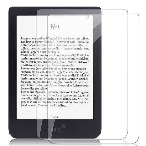 ELTD Protector de Pantalla para Tolino epos 2 eBook-Reader, 9H,2.5 ...