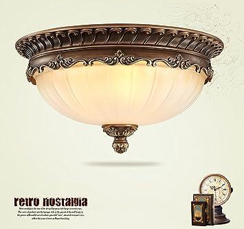 KJLARS Retro Rund Deckenlampe Wohnzimmer Deckenleuchte Kche Deckenbeleuchtung Schlafzimmer Vintage Leuchtmittel