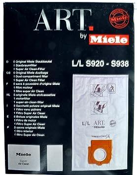 Bote para Miele bolsas al vacío para aspiradoras ART L/L S920 - S028: Amazon.es: Hogar