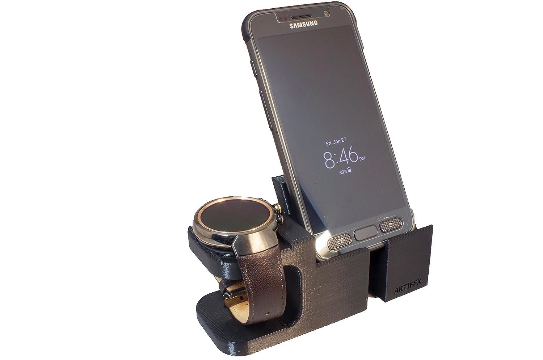 ASUS ZenWatch 3 Stand, Artifex Charging Dock Stand for ZenWatch3, New 3d Printed Technology, Smartwatch Cradle (Zen3 Combo)
