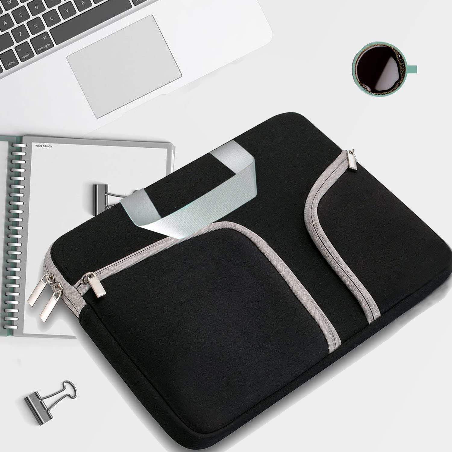 Royal Purple HESTECH 13-13.3 Neoprene Laptop Sleeve Case with Handle for 13 MacBook Air//Pro iPad Pro 12.9 Surface Book Pro3//Pro 4 Chromebook 13 Chromebook Case