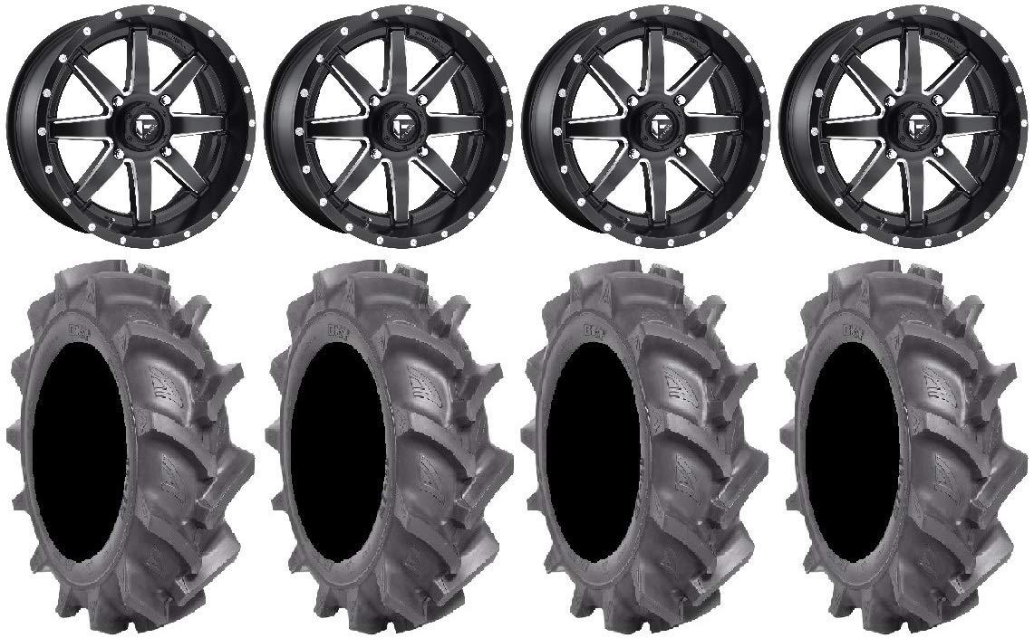 Bundle 4x156 Bolt Pattern 12mmx1.5 Lug Kit 9 Items Fuel Maverick Black 18 Wheels 33 BKT AT 171 Tires