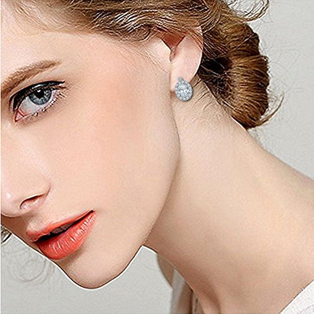 aiuin orecchini versilberung moda cielo stellato AAA livello di zirconio ciondolo donna orecchini per regalo di compleanno orecchini fatti a mano appeso Nuovo stile 2018