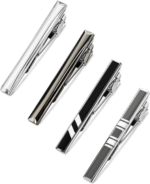 YADOCA 4-10 Pcs Pince /à Cravate pour Homme Classique Cravate Bar Clips Set Affaires Mariage avec Bo/îte-Cadeau