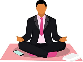 Amazon Com Simple Yoga Studio Pose Peaceful Meditation Unwind Cartoon Vinyl Sticker 2 Wide Businessman Automotive