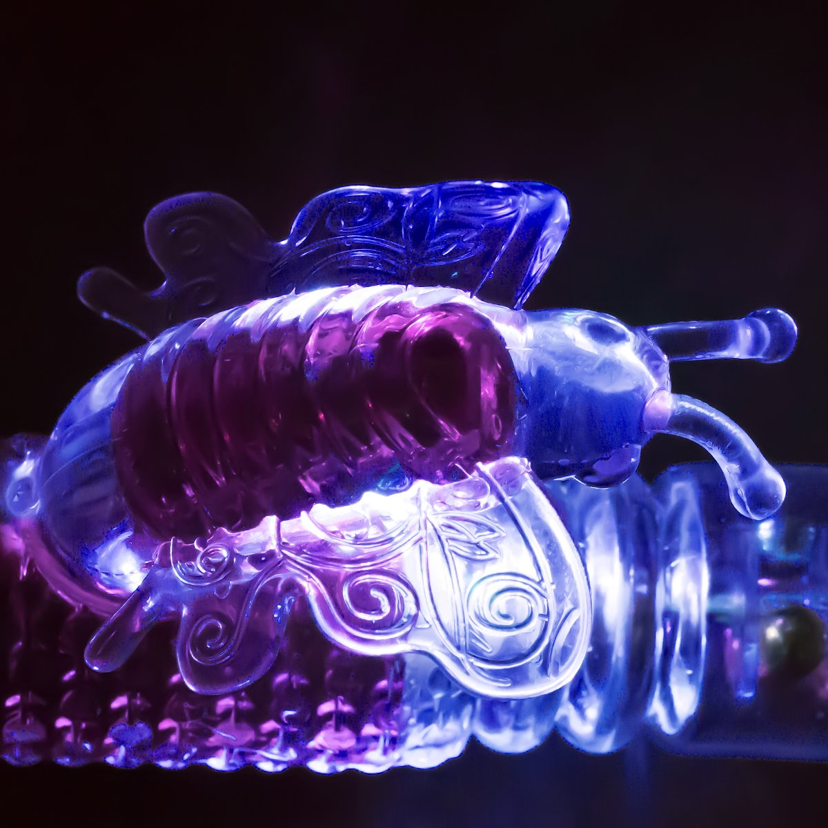 ZEMALIA Vibrating G-spot Vibrator - Vagina and Clitoris Stimulation Butterfly Massager - Powerful Rotating & Thrusting Dual Motors for Women or Couples (Purple)