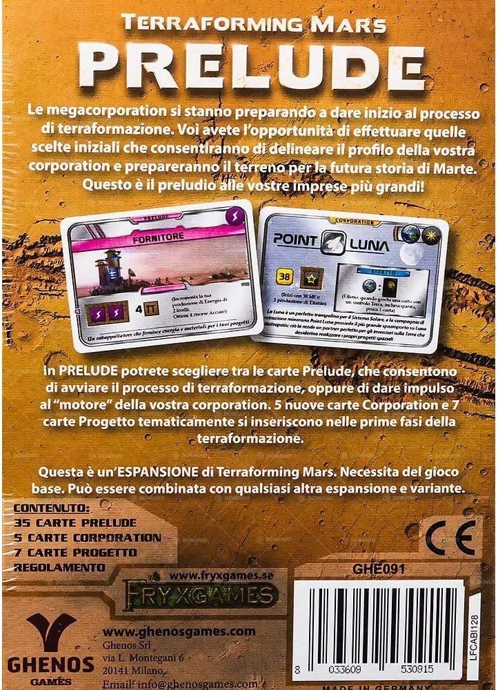 Edizione Italiana Nuova by Ghenos Prelude Espansione per Terraforming Mars