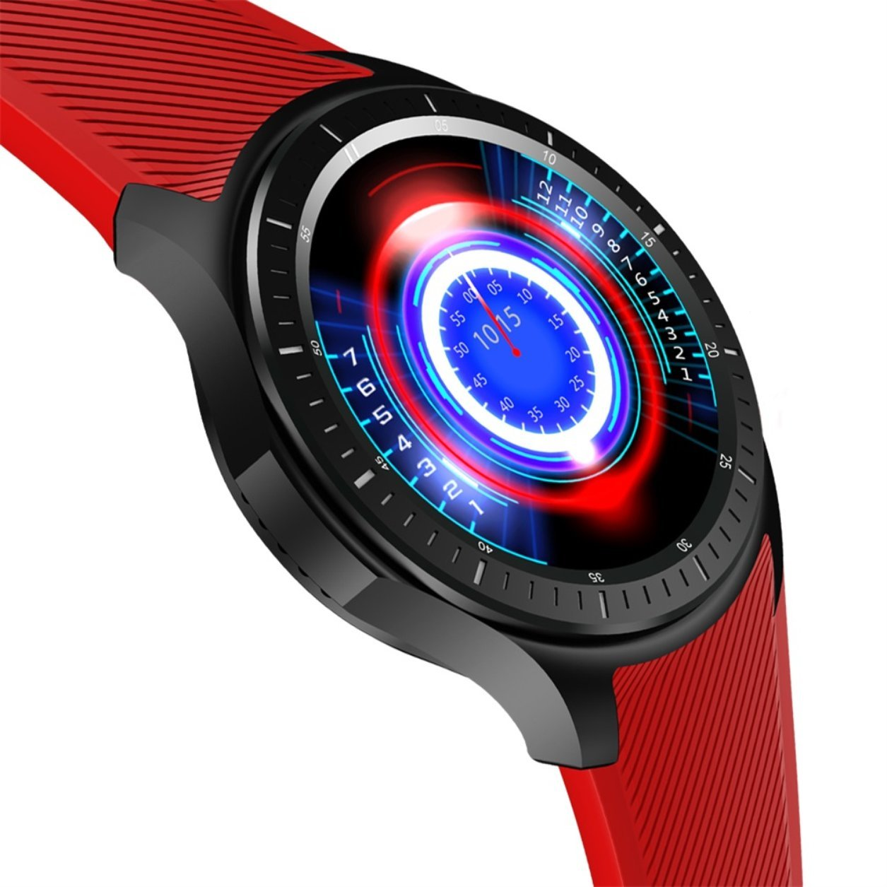 DM368 Quad Core 1.39 Inch AMOLED Screen Display Bluetooth 4.0 Smart Watch(Color:red) B07KP7DNWL