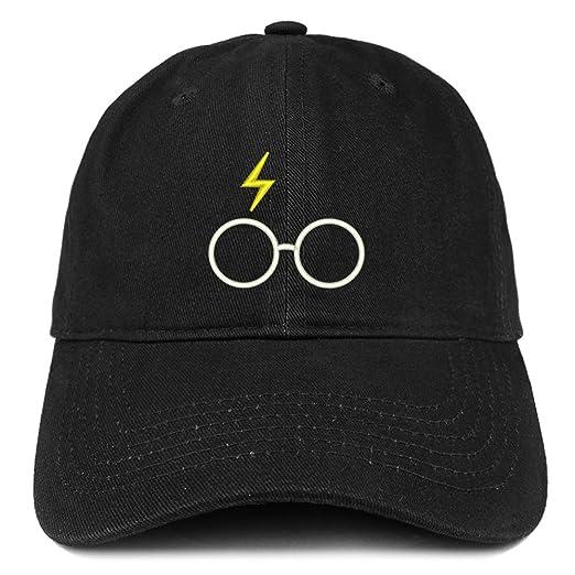 2f2456a7db3 Trendy Apparel Shop Harry Glasses Embroidered Soft Cotton Adjustable Cap  Dad Hat - Black
