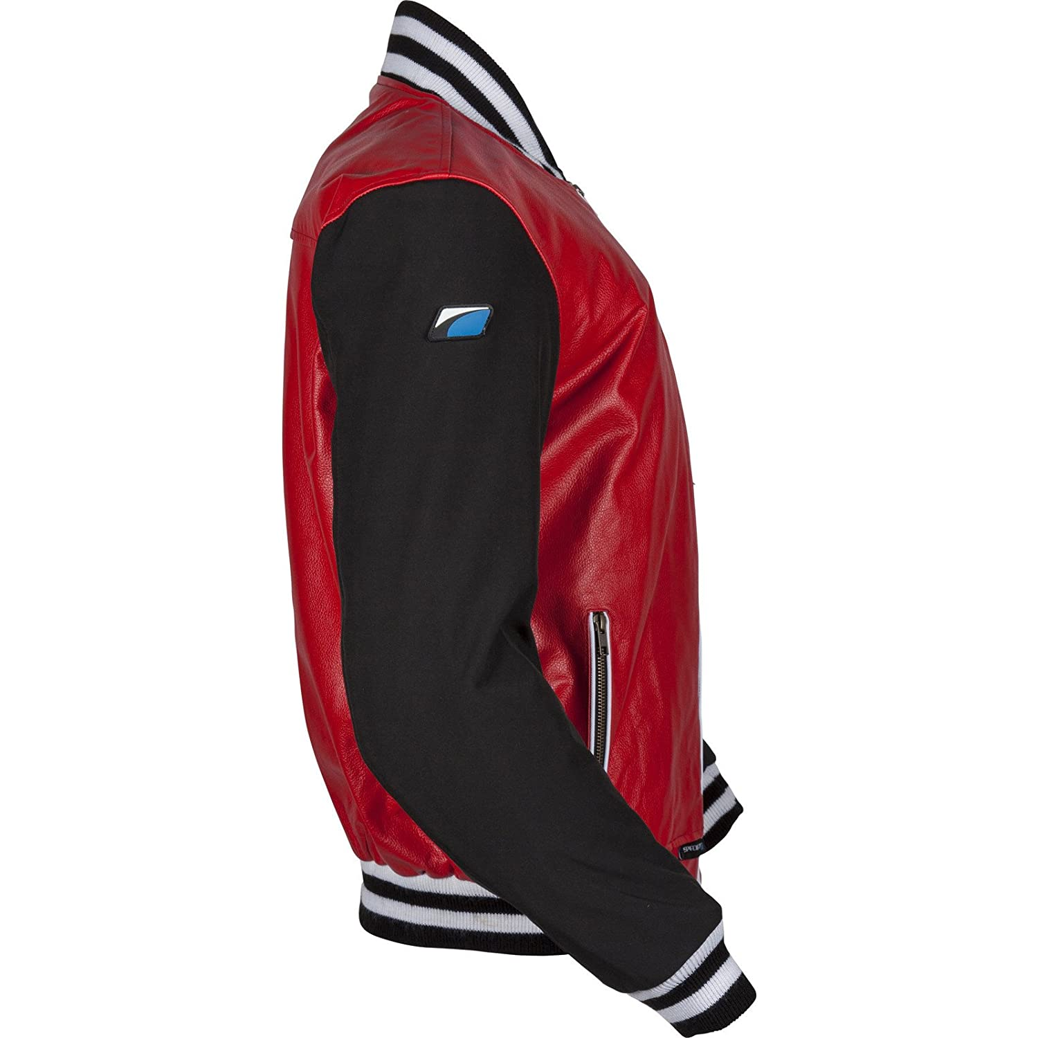 Spada Campus Leather Motorcycle Jacket 40 Black Red