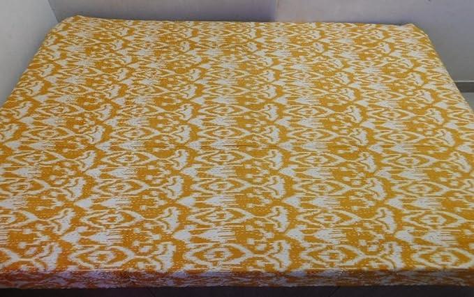 Coton Jumeau Kiara Indien Kantha couettes en Coton imprim/é Floral Couvre-lit /& Coverlets r/éversible Motif Cachemire Point de Couvre-Lits Twin Taille//Taille Queen Violet