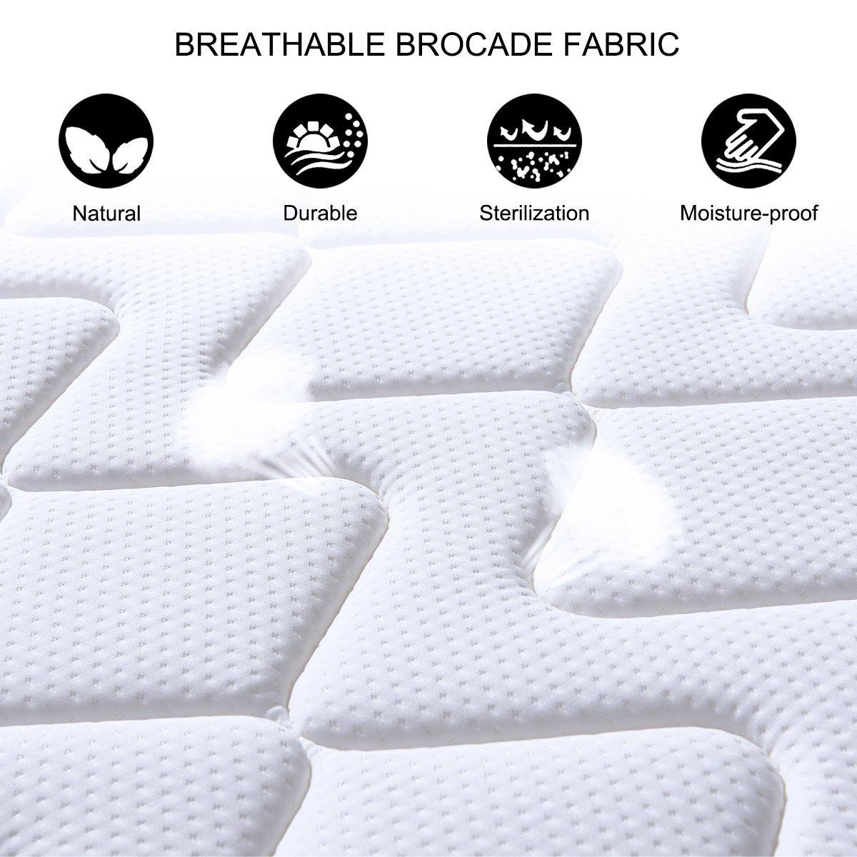 Colchón Viscoelástico DOSLEEPS - Colchón memory foam transpirable 3D El mejor colchón para el descanso 4FT Double (135 x 190cm) Camade 9 zonas con colchón ...
