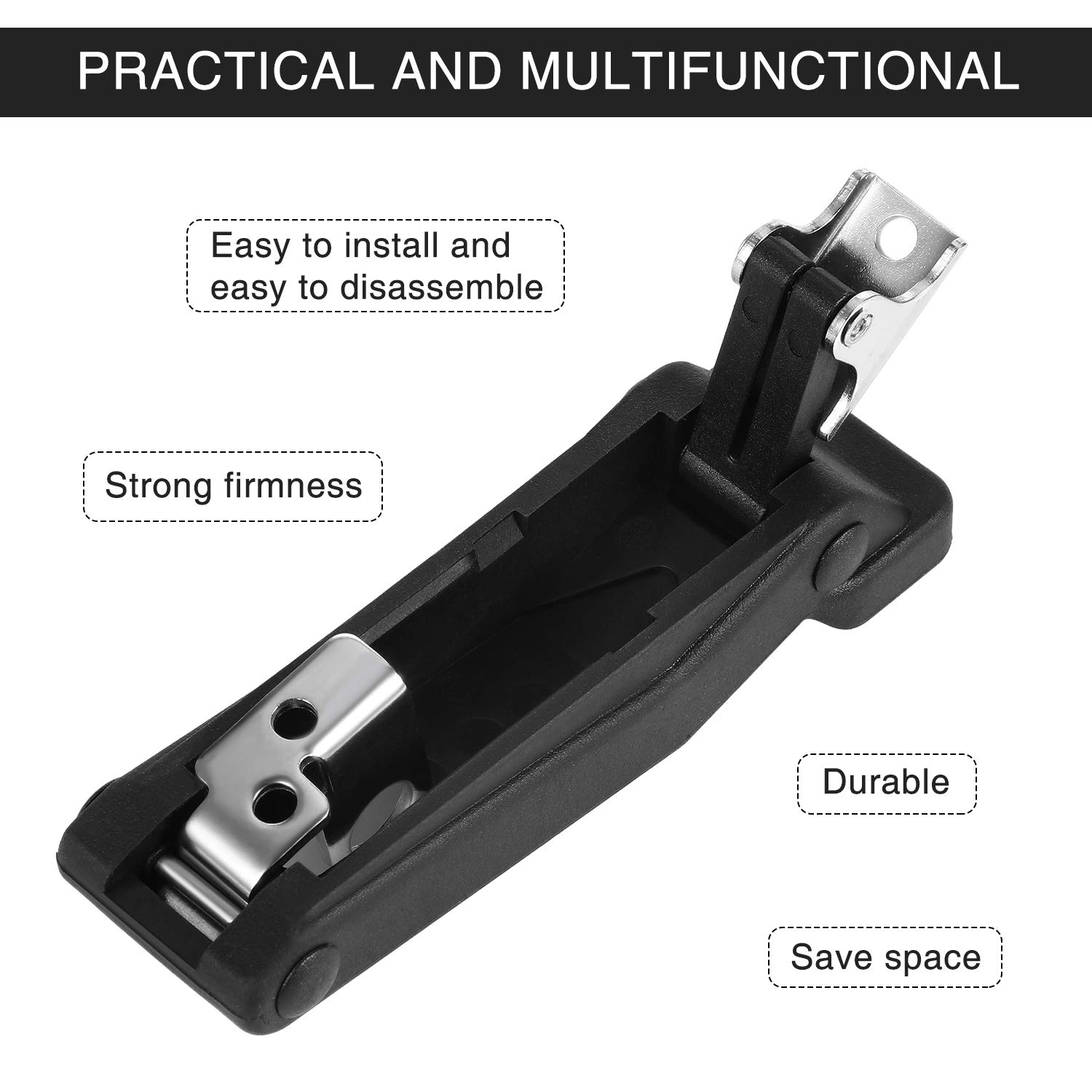 Draw & Tension 2 Pieces Rubber Latch Flexible Rubber Front Storage ...