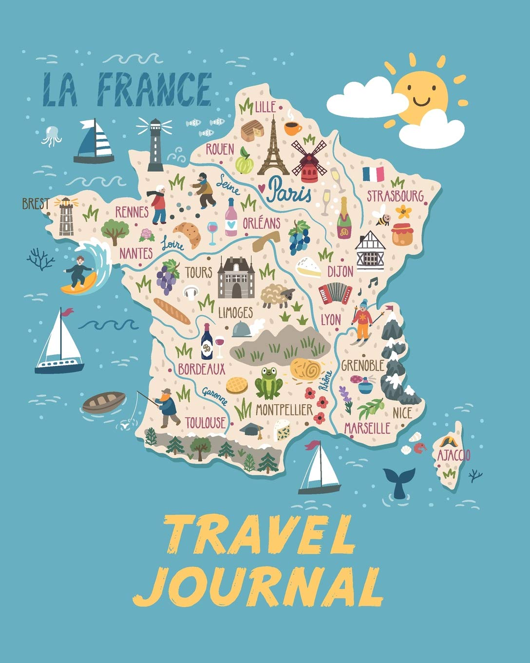 Rennes Map Of France.Travel Journal Map Of France Kid S Travel Journal Simple Fun