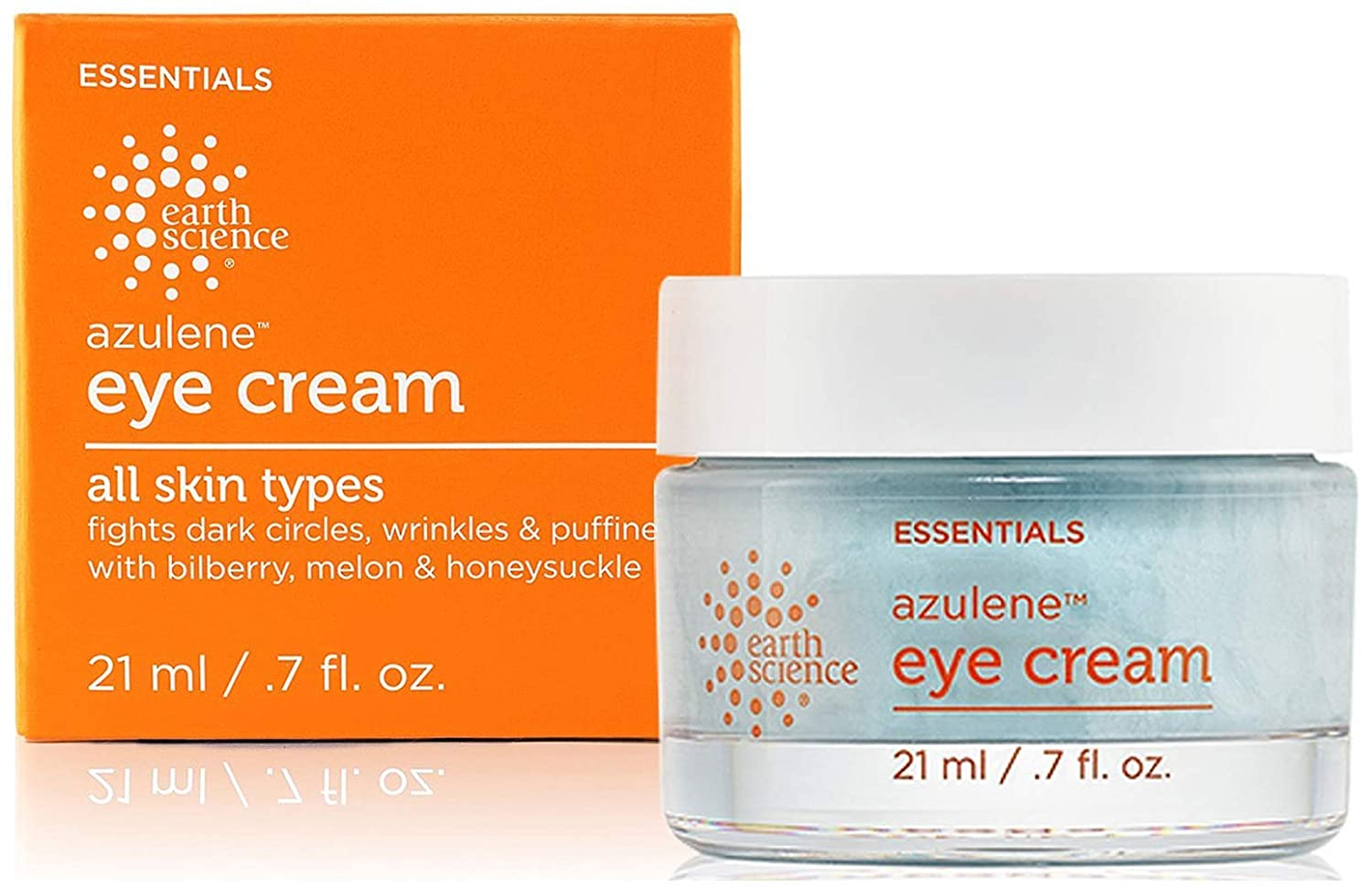 EARTH SCIENCE - Azulene Eye Cream For Puffiness, Dark Circles, and Wrinkles (0.7 oz.)