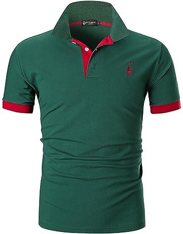 STTLZMC Mens Casual Short Sleeve Polos Tennis Golf Classic Polo Shirts 68fa31f3c