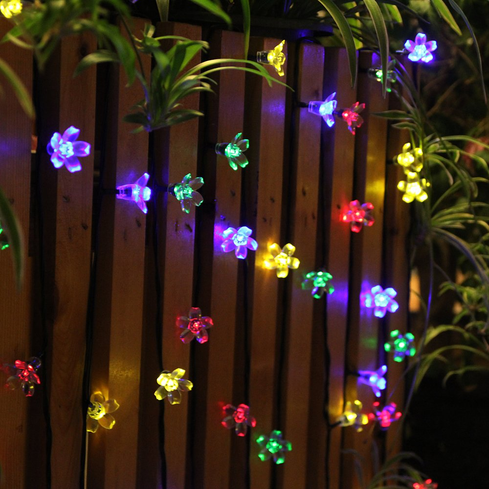 Innoo Tech Outdoor Flower Garden Solar String Lights, Multi Color  (21 Ft  Including A 5ft Lead Line): Amazon.co.uk: Lighting